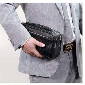 Bóp da nam cầm tay cao cấp - LANQI LKM359