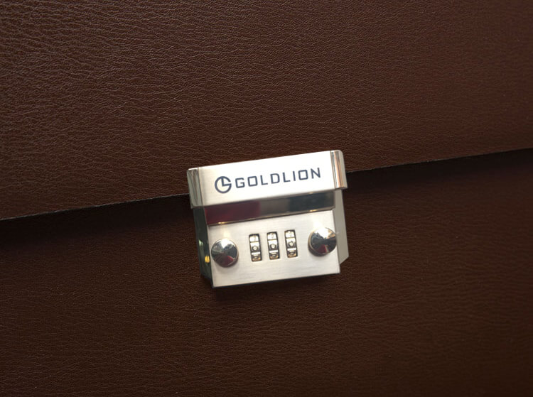 Cặp da nam công sở cao cấp - Gold Lion- LKM356